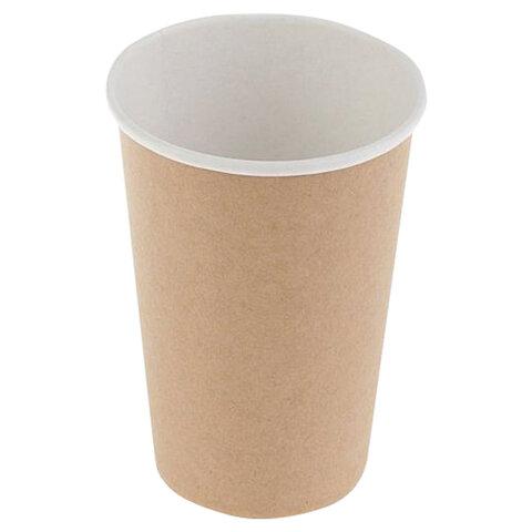 Одноразовые стаканы 300 мл, КОМПЛЕКТ 50 шт., бумажный однослойный, Craft 2.0, холодное/горячее, HUHTAMAKI, 77111200-2202