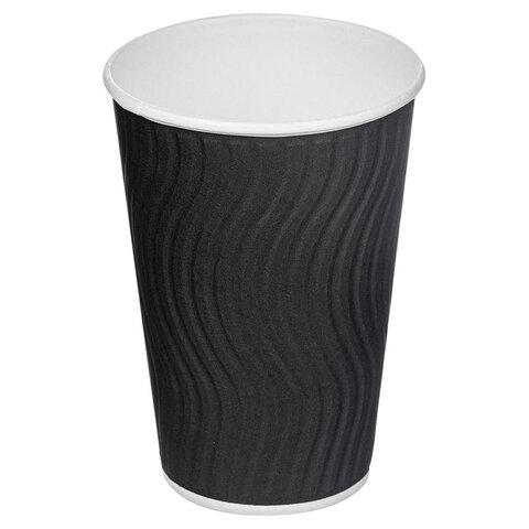 Одноразовые стаканы 400 мл, КОМПЛЕКТ 25 шт., бумажный ДВУХСЛОЙНЫЕ,