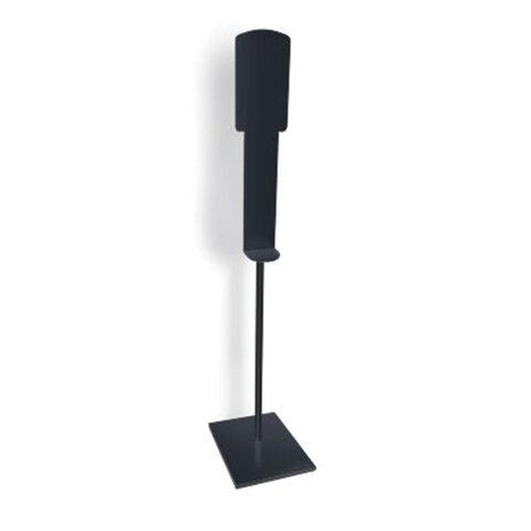 Стойка для диспенсера универсальная с информационным стендом, высота 1,5 м, черная, HALSA, MS150D