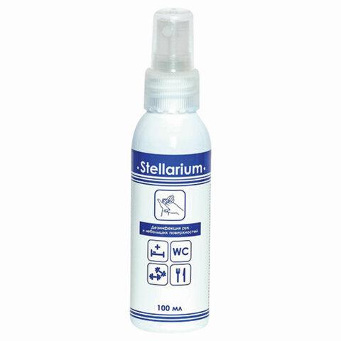 Антисептик для рук и поверхностей спиртосодержащий (75%) с распылителем 100мл STELLARIUM (Стеллариум), дезинфицирующий, жидкость, 100-СТ