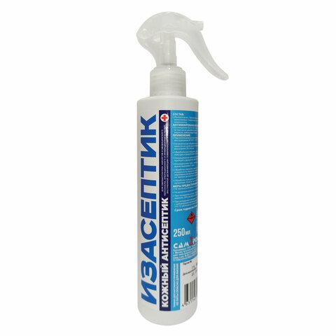 Антисептик для рук и поверхностей спиртосодержащий (65%) с распылителем 250мл ИЗАСЕПТИК, дезинфицирующий, жидкость