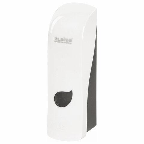 Диспенсер для жидкого мыла LAIMA PROFESSIONAL ECO, НАЛИВНОЙ, 0,38 л, белый, ABS-пластик, 607331