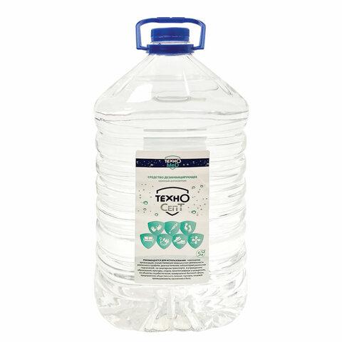 Антисептик для рук и поверхностей спиртосодержащий (70%) 5л ТЕХНОСЕПТ, дезинфицирующий, жидкость, 56211