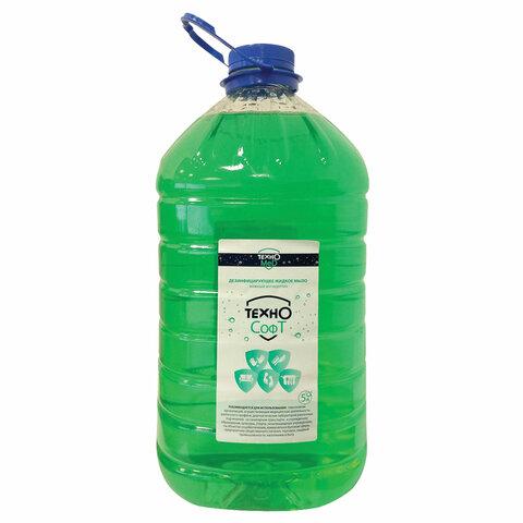 Мыло жидкое дезинфицирующее 5 л ТЕХНОСОФТ, 34111