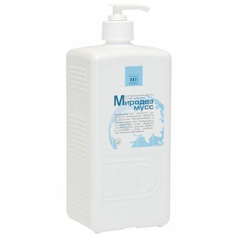 Антисептик для рук бесспиртовой с дозатором 1л МИРОДЕЗ МУСС, дезинфицирующий, жидкость