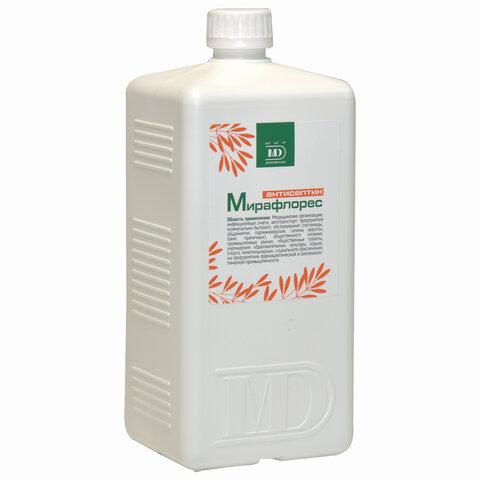Антисептик для рук и поверхностей спиртосодержащий (70%) 1л МИРАФЛОРЕС, дезинфицирующий, жидкость