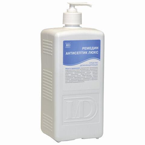 Антисептик кожный дезинфицирующий спиртосодержащий (63%) с дозатором 1 л РЕМЕДИН ЛЮКС, готовый раствор