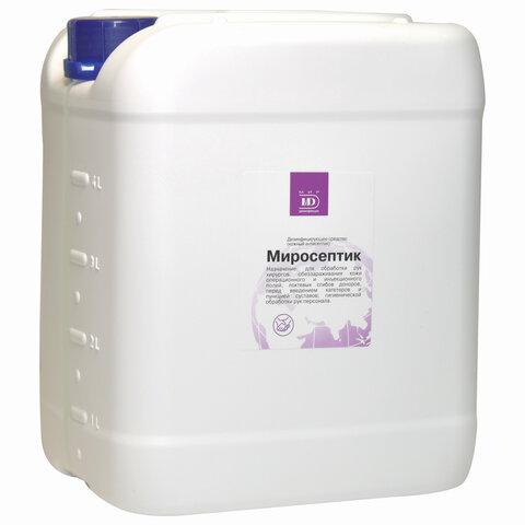 Антисептик кожный дезинфицирующий спиртосодержащий (60%) 5 л МИРОСЕПТИК, готовый раствор