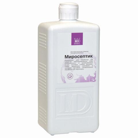Антисептик кожный дезинфицирующий спиртосодержащий (60%) 1 л МИРОСЕПТИК, готовый раствор