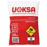Материал противогололёдный 20 кг UOKSA Актив, до -30°C, хлорид кальция + минеральной соли, мешок