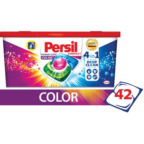 Средство для стирки в капсулах 42 шт. PERSIL (Персил) Power caps Color, для цветного белья, 2485888