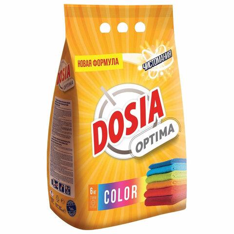 Стиральный порошок автомат 6 кг DOSIA (Дося) Optima Color, для цветного белья, 3118469