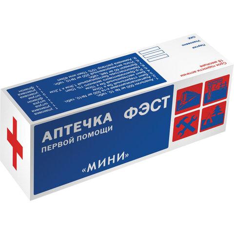 Аптечка первой помощи индивидуальная ФЭСТ, футляр полистирол, № 6, 1077