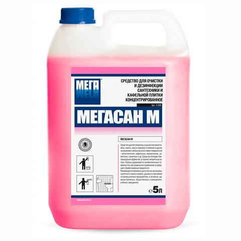 Средство для уборки туалетов и санитарных помещений 5 л МЕГАСАН М, кислотное, гель, К320