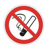 """Знак запрещающий """"Запрещается курить"""", круг, диаметр 200 мм, самоклейка, 610001/Р 01"""