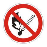 """Знак запрещающий """"Запрещается пользоваться открытым огнем и курить"""", круг, диаметр 200 мм, самоклейка, 610002/Р 02"""