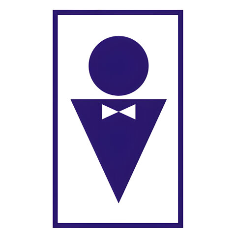 """Знак вспомогательный """"Туалет мужской"""", прямоугольник, 120х190 мм, самоклейка, 610040/В 37"""