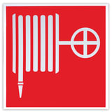"""Знак пожарной безопасности """"Пожарный кран"""", 200х200 мм, самоклейка, фотолюминесцентный, F 02"""