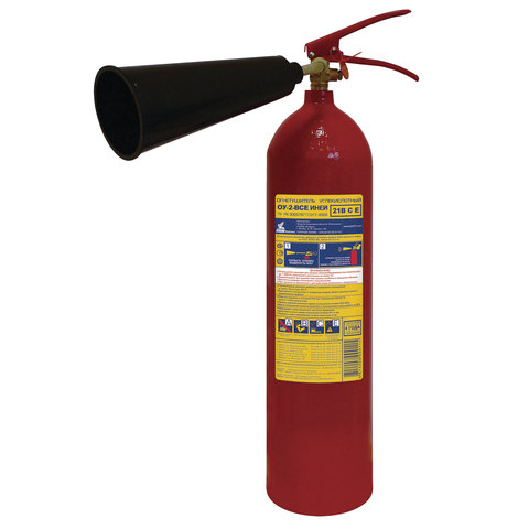 Огнетушитель углекислотный ОУ-2, ВСЕ (жидкие и газообразные вещества, электро установки), ИНЕЙ, 112-02
