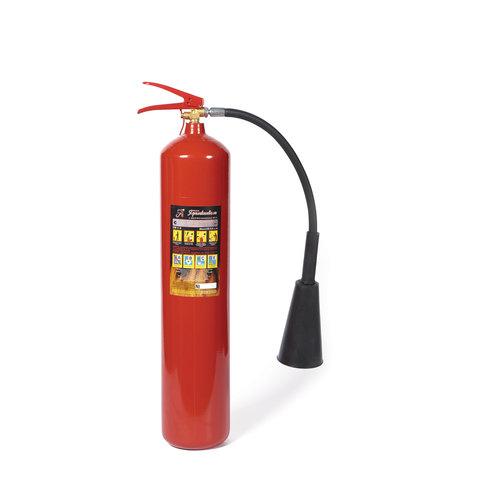 Огнетушитель углекислотный ОУ-5, ВСЕ (жидкие, газообразные вещества, электроустановки), закачной, ЯРПОЖ, 2 места, 52