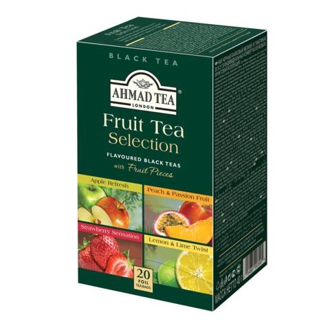"""Чай AHMAD """"Fruit tea selection"""", фруктовая коллекция, ассорти, 20 пакетиков в конвертах по 2г"""