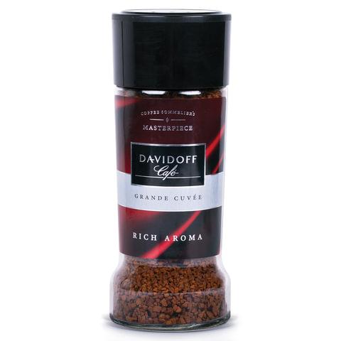 """Кофе растворимый DAVIDOFF """"Rich Aroma"""", гранулированный, премиум-класса 100г, стеклянная банка"""