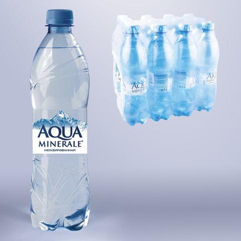 Вода негазированная питьевая AQUA MINERALE (Аква Минерале), 0,6л, 28185