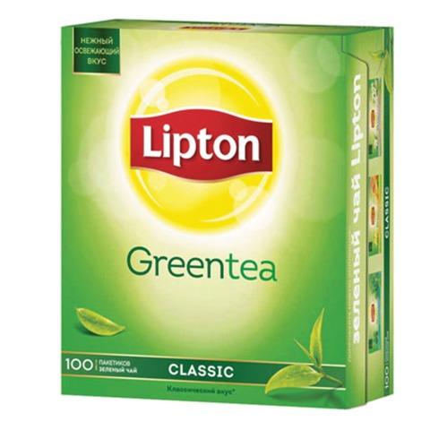 """Чай LIPTON (Липтон) """"Clear Green"""", зеленый, 100 пакетиков с ярлычками по 1,3 г, 65415224"""