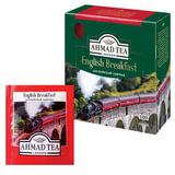 "Чай AHMAD (Ахмад) ""English Breakfast"", черный, 100 пакетиков по 2 г, 600-012"