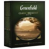 """Чай GREENFIELD (Гринфилд) """"Classic Breakfast"""", черный, 100 пакетиков в конвертах по 2 г, 0582"""