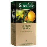 """Чай GREENFIELD (Гринфилд) """"Lemon Spark"""", черный, со вкусом лимона, 25 пакетиков в конвертах по 2 г, 0711"""