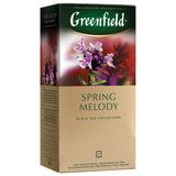 """Чай GREENFIELD (Гринфилд) """"Spring Melody"""" (Мелодия весны), черный, со вкусом чабреца, 25 пакетиков в конвертах по 2 г, 0525"""