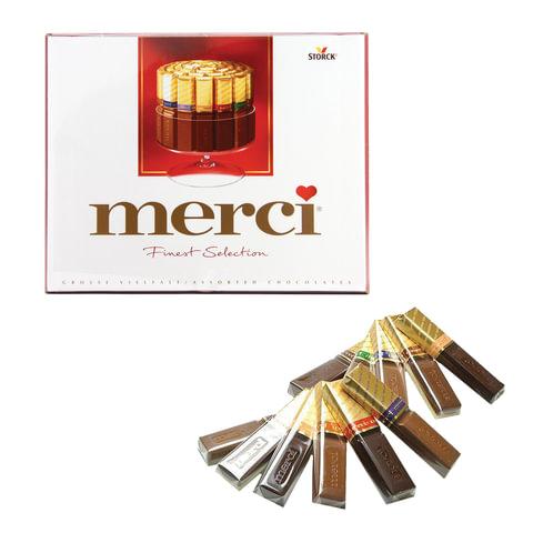 Конфеты шоколадные MERCI (Мерси), ассорти, 250 г, картонная коробка, 015409-35