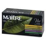 "Чай MAITRE (Мэтр) ""Классик"", зеленый, ассорти (лимон/лайм/молочный улун/жасмин/мята), 25 пакетиков в конвертах по 2 г, бак195р"