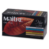 Чай MAITRE (Мэтр), черный, ассорти (кенийский/цейлонский/французский №1/лимонный бурбон/эрл грей), 25 пак. в конвертах по 2 г, бак235р