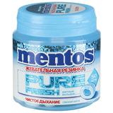 """Жевательная резинка MENTOS Pure Fresh (Ментос) """"Свежая мята"""", 100 г, банка, 20798"""