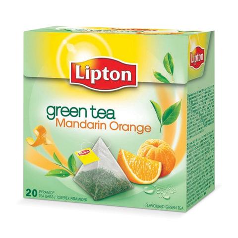 "Чай LIPTON (Липтон) ""Green Mandarin Orange"", зеленый, 20 пирамидок по 2 г, 21187925"