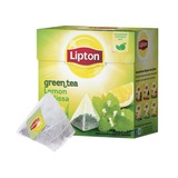 "Чай LIPTON (Липтон) ""Green Lemon Melissa"", зеленый, 20 пирамидок по 2 г, 21187930"