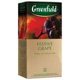 """Чай GREENFIELD (Гринфилд) """"Festive Grape"""" (""""Праздничный виноград""""), фруктовый, 25 пакетиков в конвертах по 2 г, 0522-10"""