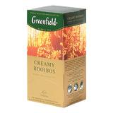 """Чай GREENFIELD (Гринфилд) """"Creamy Rooibos"""" (""""Сливочный ройбуш""""), ройбуш, 25 пакетиков в конвертах по 1,5 г, 0524-10"""