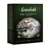 """Чай GREENFIELD (Гринфилд) """"Earl Grey Fantasy"""", черный с бергамотом, 100 пакетиков в конвертах по 2 г, 0584-09"""