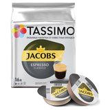 """Кофе в капсулах JACOBS """"Espresso"""" для кофемашин Tassimo, 16 шт. х 8 г, 8052181"""