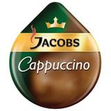 "Капсулы для кофемашин TASSIMO JACOBS ""Cappuccino"", натуральный кофе 8 шт. х 8 г, молочные капсулы 8 шт. х 40 г, Capuchino"