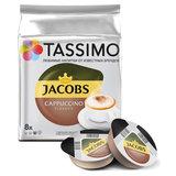 """Кофе в капсулах JACOBS """"Cappuccino"""" для кофемашин Tassimo, 8 порций (16 капсул), 8052279"""