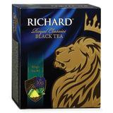 """Чай RICHARD """"King's Tea №1"""", с ароматом мяты и цедры цитрусовых, черный, 100 пакетиков по 2 г, 610302"""