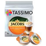 """Кофе в капсулах JACOBS """"Latte Macchiato Caramel"""" для кофемашин Tassimo, 8 порций (16 капсул), 8052186"""