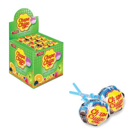 Карамель CHUPA CHUPS (Чупа-Чупс) фруктовая с соком + кола, 12 г, 61888