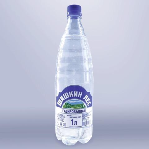 """Вода газированная питьевая """"Шишкин лес"""", 1 л, пластиковая бутылка"""