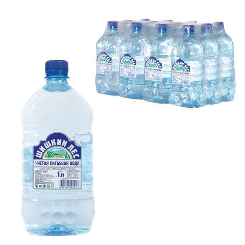 """Вода негазированная питьевая """"Шишкин лес"""", 1 л, пластиковая бутылка"""