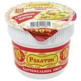 Пюре картофельное РОЛЛТОН быстрого приготовления, со вкусом курицы, 40 г, стакан, 2330001